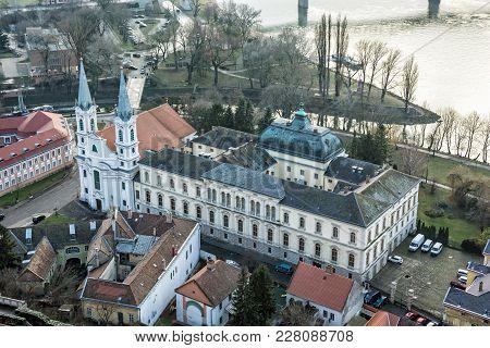 View From Esztergom Basilica. Saint Ignatius Church, Hungary. Travel Destination. Cultural Heritage.
