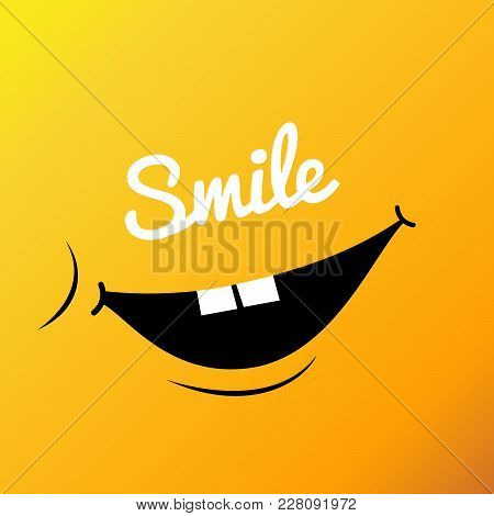 Yellow Smile. Vector Illustration  Smiley Face. Poster World Smile Day. Smiley Wallpaper. Emoticon B