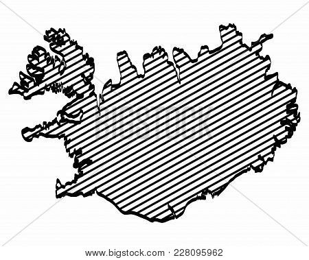 Iceland Map Outline Vector & Photo (Free Trial) | Bigstock