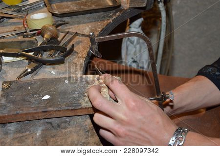 Zoom In A Jewelry Workshop At Work