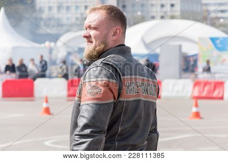 Minsk, Belarus - April 24, 2016 Hog. Harley Owners Group Opening Driving Season Show. Close-up View