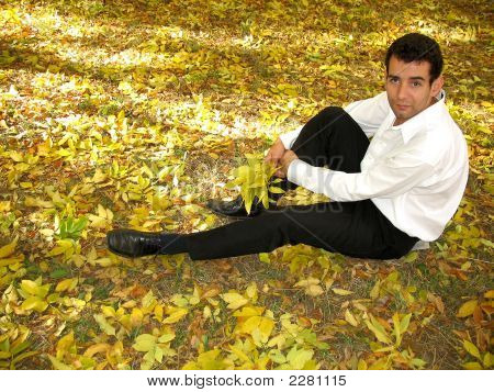 Sad Man On The Grass