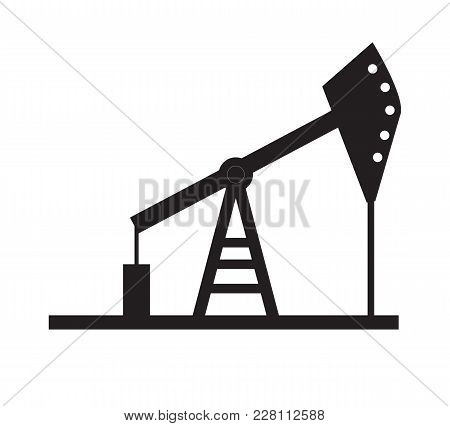 Oil Pump Icon On White Background. Oil Pump Sign. Flsy Style.