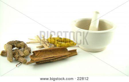Ayurvedic Herbs, Set To Be Ground