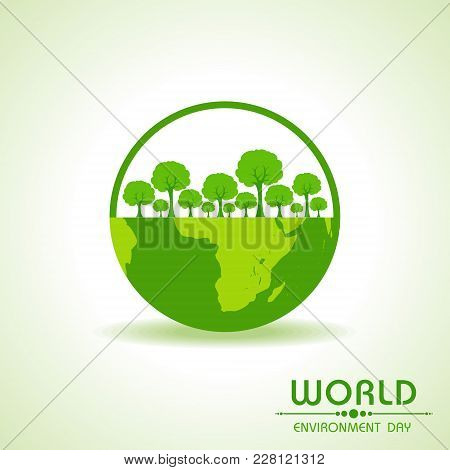 Save Nature Concept - World Environment Day Stock Vector