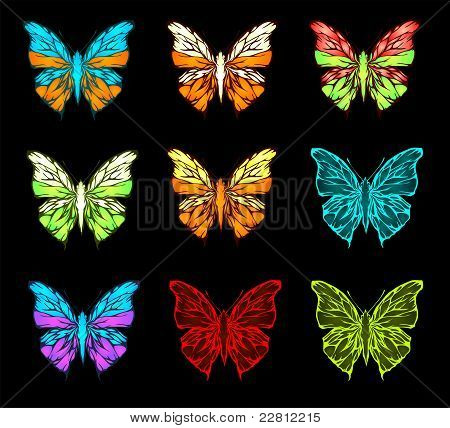 Color pallet of butterfly (vector)