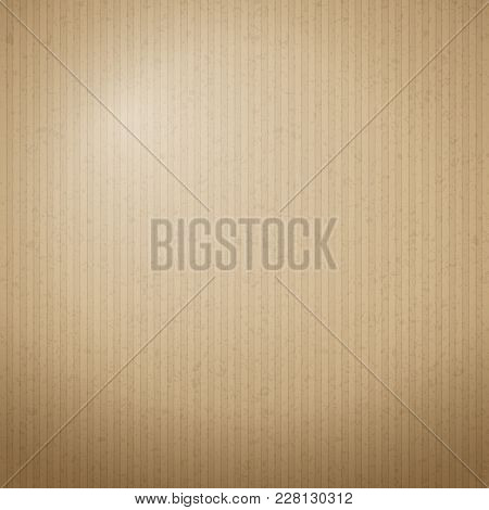 Brown Cardboard Paper Texture For Background. Vector Illustration.