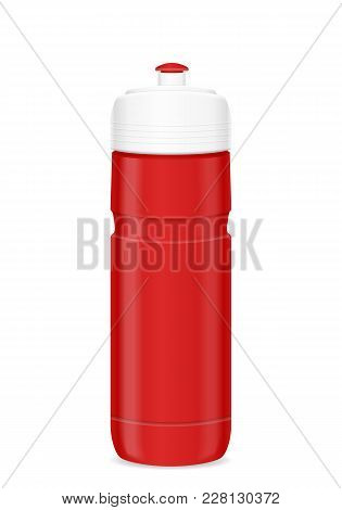 Cycling Bottle On A White Background. Vector Illustration.