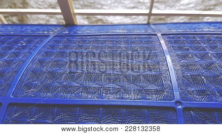 Plastic Blue Air Filter Of The Air Conditioner