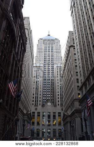 Chicago Board Of Trade Building In Downtown Loop, Chicago, Il On Lasalle Street, October 26th, 2017
