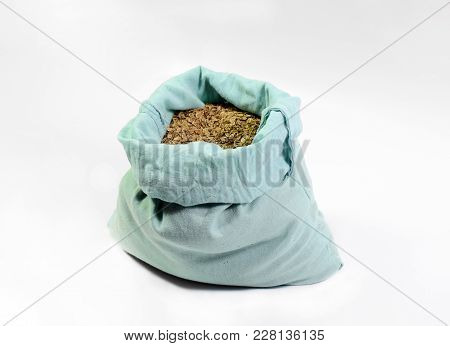 A Bag Of Dill Seeds. Dill Seeds. Storage For Seed Dill Seeds. Aromatic Seasoning