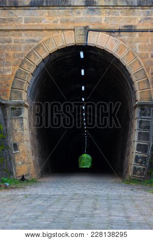 Beautiful Historic Tunnel In An Arc Form