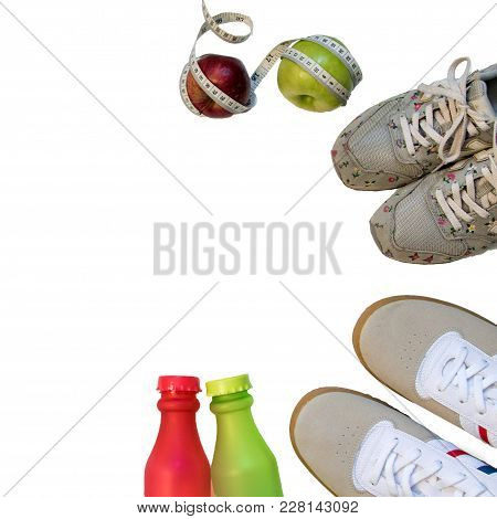 Sports Accessories For Two Are Top View