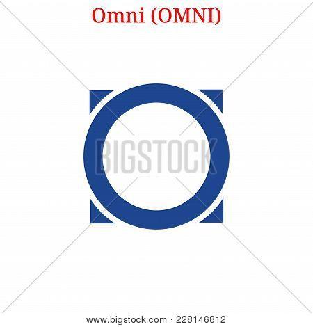 Vector Omni (omni) Digital Cryptocurrency Logo. Omni (omni) Icon. Vector Illustration Isolated On Wh