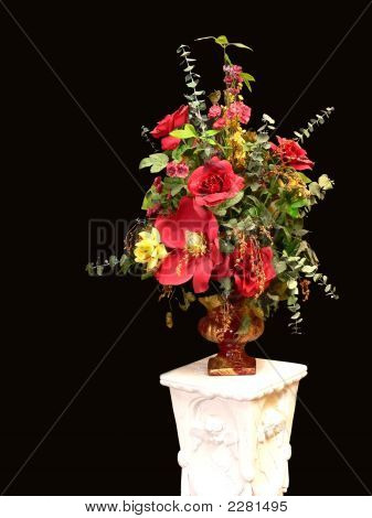 Silk Flower With Stand.