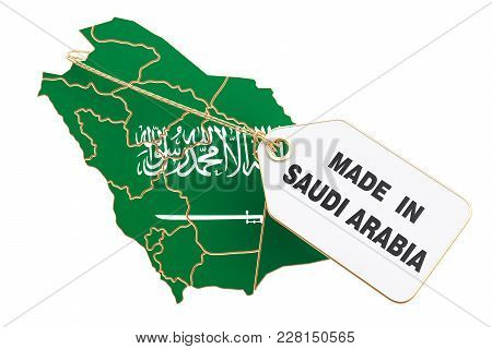 Made In Saudi Arabia Concept, 3d Rendering Isolated On White Background