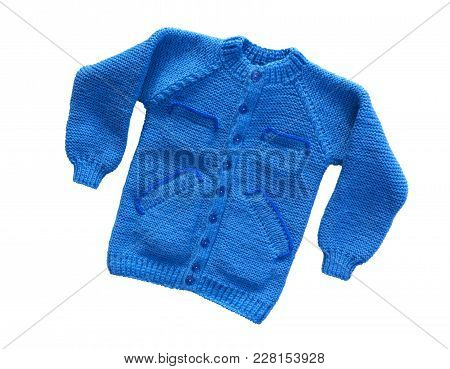Sweater isolated on white background. Children warm pullover. Winter sweater. poster
