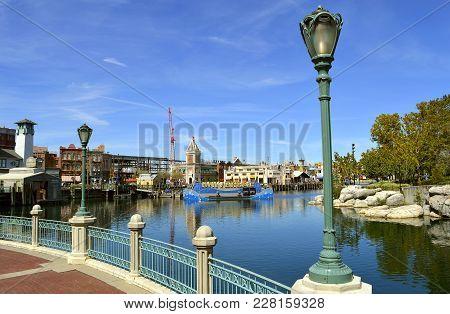 Universal Studios Resort, Orlando, Florida, Usa - October 24, 2016: The Universal Orlando Resort Adv
