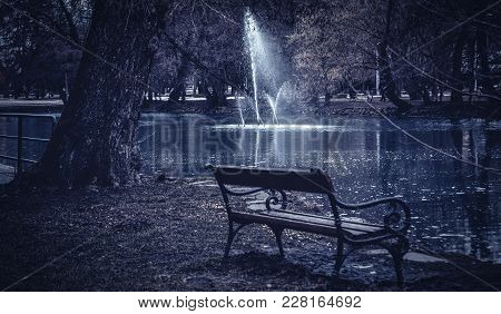 Evening, Dramatic Picture, Foreground Pad, Background Fountain