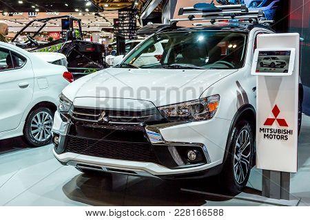 February 15, 2018. Toronto, Canada: Presentation Of Mitsubishi Car During The 2018 Canadian Internat