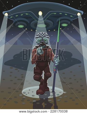 Alien Warrior With Spear With Green Tip Is A New Unknown Weapon, It Chose You And Shows With Your Fi