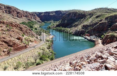 View Of The Ord River In Vestern Australia. Taken From The Dam Wall This River Provide Irrigation Wa