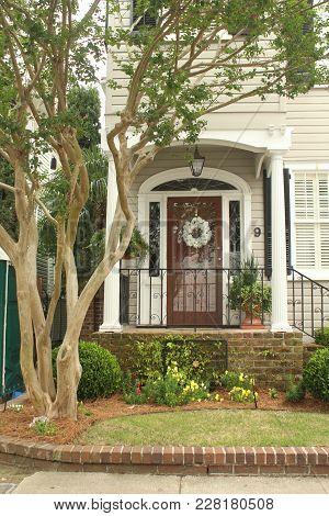 Charleston, South Carolina, May 4, 2017, Southern Style Homes In The Historic District Of Charleston