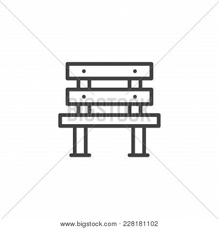 Superb Wooden Bench Outline Vector Photo Free Trial Bigstock Machost Co Dining Chair Design Ideas Machostcouk