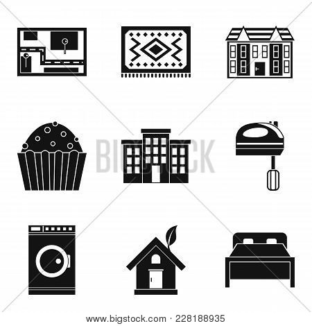Area Icons Set. Simple Set Of 9 Area Vector Icons For Web Isolated On White Background
