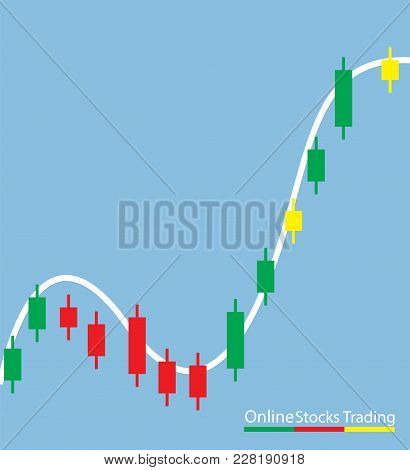 Concept Of Inforgraphic Trading Stock Market Growing For Management Design, Analysis, Business And I