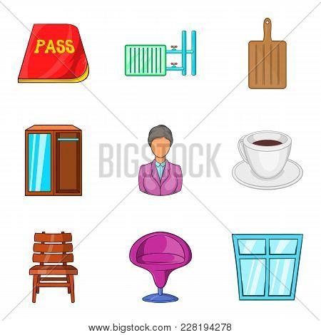 Farmstead Icons Set. Cartoon Set Of 9 Farmstead Vector Icons For Web Isolated On White Background