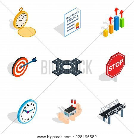 Stress Relief Icons Set. Isometric Set Of 9 Stress Relief Vector Icons For Web Isolated On White Bac