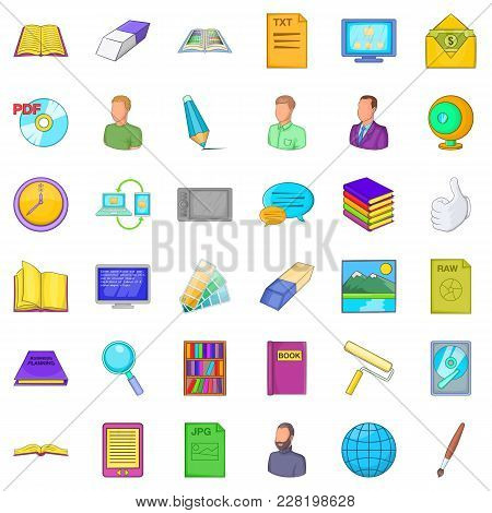 Ownership Icons Set. Cartoon Set Of 36 Ownership Vector Icons For Web Isolated On White Background