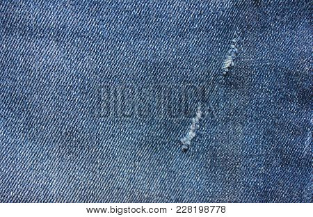Blue Denim Jeans Texture Background. Classic Stylish Jean Fabric Design, Empty Denim Clothing Surfac