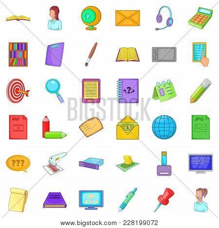 Belonging Icons Set. Cartoon Set Of 36 Belonging Vector Icons For Web Isolated On White Background