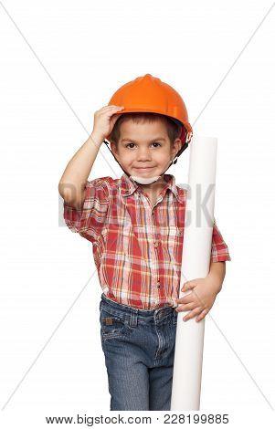 Child Imagines Himself An Architect
