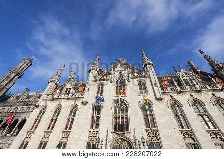 Provincial Court In Bruges. Bruges, Flemish Region, Belgium