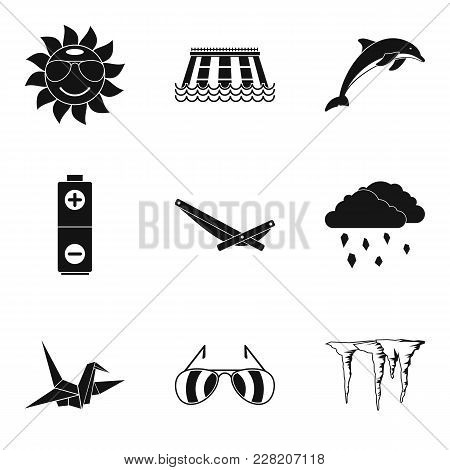 Eternal Summer Icons Set. Simple Set Of 9 Eternal Summer Vector Icons For Web Isolated On White Back