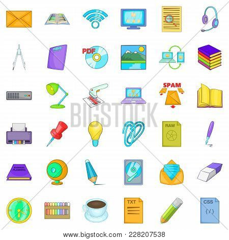 Institutional Icons Set. Cartoon Set Of 36 Institutional Vector Icons For Web Isolated On White Back