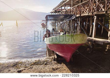 Lake Coatepeque In El Salvador. Santa Ana, El Salvador.