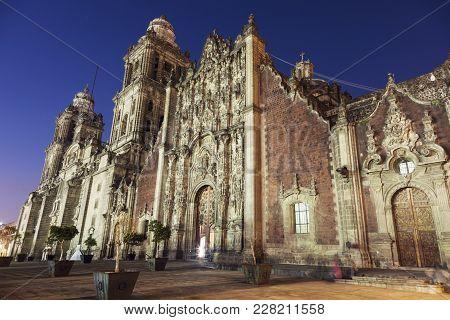 Metropolitan Cathedral In Mexico City. Mexico City, Mexico.