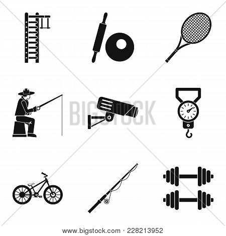 Tackle Icons Set. Simple Set Of 9 Tackle Vector Icons For Web Isolated On White Background