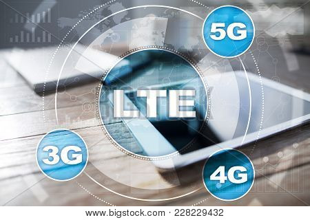 Lte Networks. 5g Mobile Internet And Technology Concept