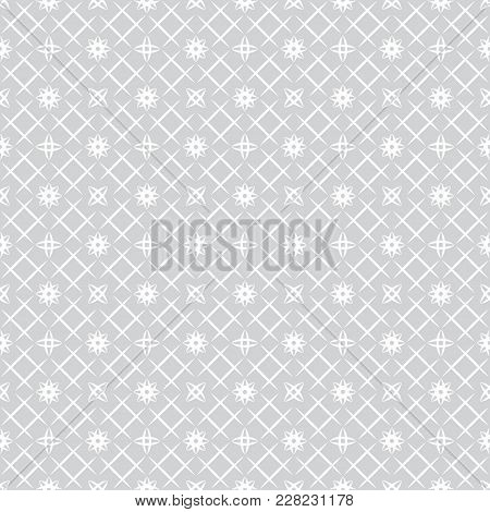Vector seamless pattern. Modern stylish texture with regularly repetition stars, rhombuses, thin line grids. Trendy geometric abstract background. poster