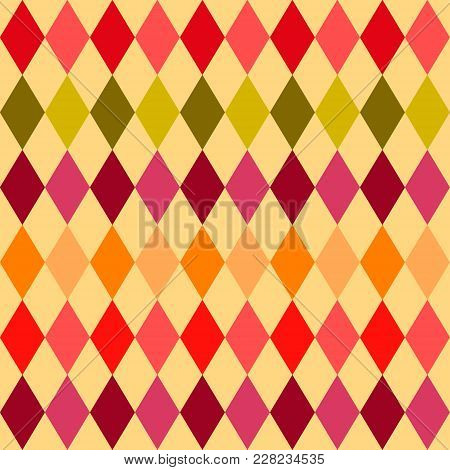Vector Geometric Seamless Pattern. Argyle Colorful Background