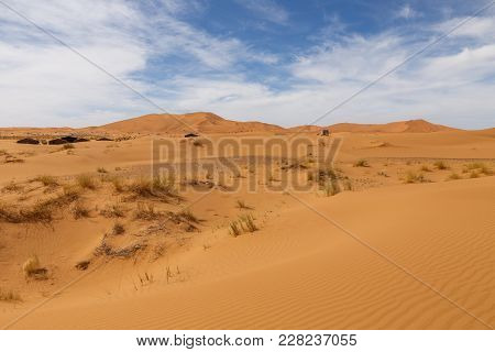 Dunes Of Erg Chebbi, Sahara Desert Morocco.