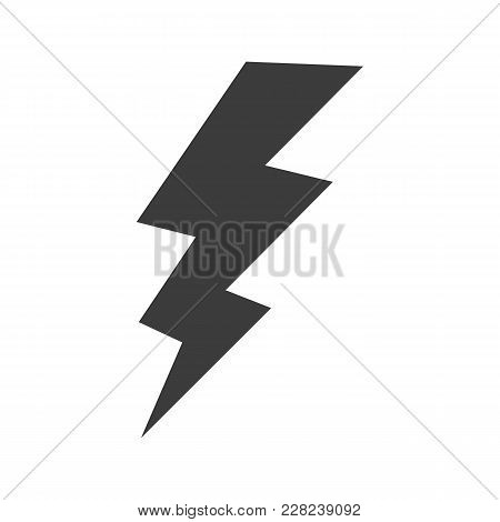 Lightning Icon. Lightning Vector Isolated On White Background. Flat Vector Illustration In Black. Ep