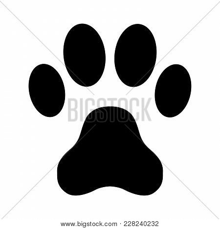Animal Paw Print On A White Background. Vector Illustration