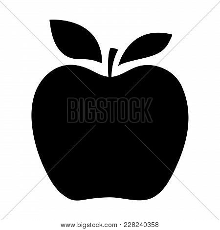 Silhouettes Of An Apple On A White Background. Vector Illustration