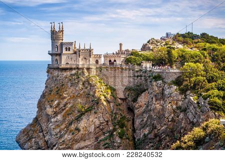 Castle Swallow's Nest On The Rock In Black Sea, Crimea